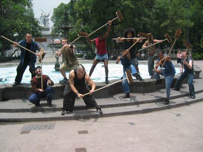 STOMP - brooms-fountain
